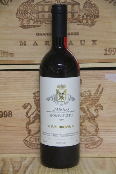 1986 Brovia Barolo Monprivato - JP Fine Wines price Singapore Bordeaux France